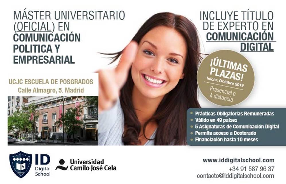 Máster Comunicación Política Universidad Camilo José Cela