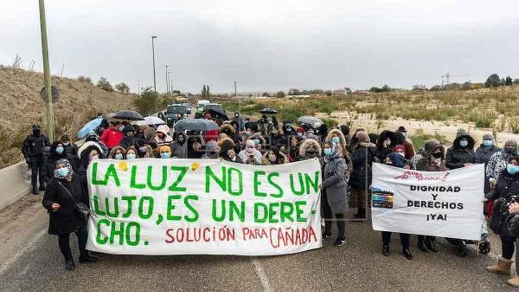 Manifestaciones en Cañada Real