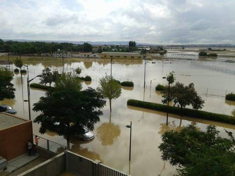 El municipio de Chinchilla totalmente inundado