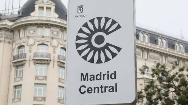 Acceso a Madrid Central.