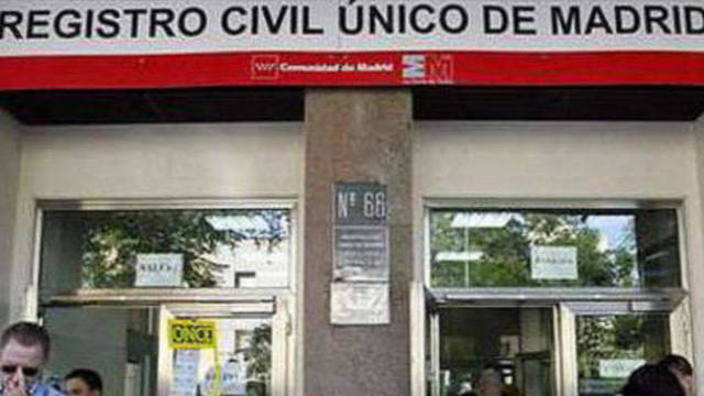 El Registro Civil de Madrid.