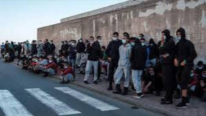 Inmigrantes en las calles Canarias.